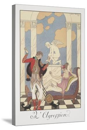 Falbalas Et Fanfreluches, Almanac for 1922, L'Aggression-Georges Barbier-Stretched Canvas Print