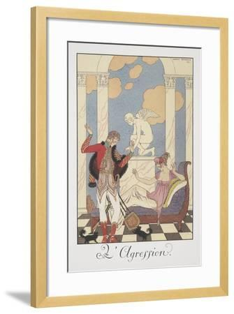 Falbalas Et Fanfreluches, Almanac for 1922, L'Aggression-Georges Barbier-Framed Giclee Print