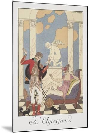 Falbalas Et Fanfreluches, Almanac for 1922, L'Aggression-Georges Barbier-Mounted Giclee Print