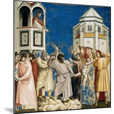 The Massacre of the Innocents, Detail from Life and Passion of Christ, 1303-1305-Giotto di Bondone-Mounted Giclee Print