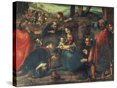 Adoration of the Magi-Fernando Yanez de la Almedina-Stretched Canvas Print