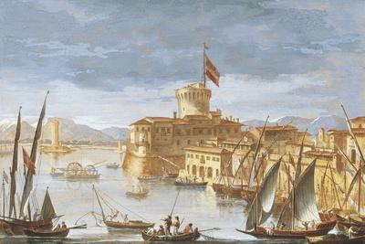 View of Livorno Port-Giuseppe Maria Terreni-Framed Giclee Print