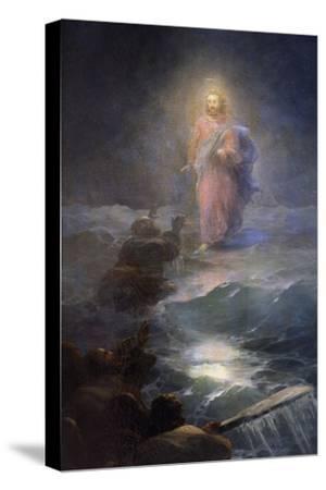 Jesus Walking on Water-Ivan Konstantinovich Aivazovsky-Stretched Canvas Print