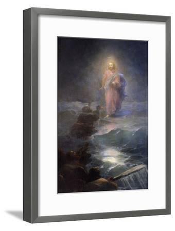 Jesus Walking on Water-Ivan Konstantinovich Aivazovsky-Framed Giclee Print