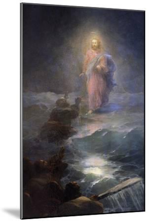Jesus Walking on Water-Ivan Konstantinovich Aivazovsky-Mounted Giclee Print