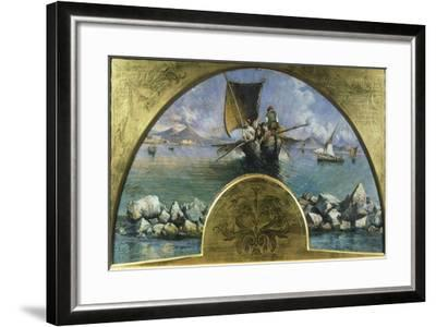 Gulf of Naples, 1891-Gonsalvo Corelli-Framed Giclee Print