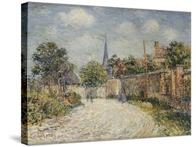 The Village Street; La Rue De Village-Gustave Loiseau-Stretched Canvas Print