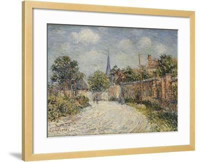 The Village Street; La Rue De Village-Gustave Loiseau-Framed Giclee Print