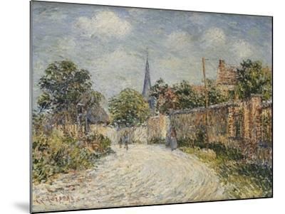 The Village Street; La Rue De Village-Gustave Loiseau-Mounted Giclee Print