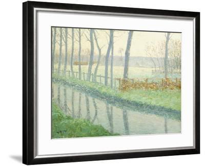 Le Sausseron, Nesles-La Vallee, C.1891-Gustave Loiseau-Framed Giclee Print