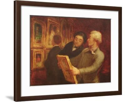 The Amateur Painter-Honore Daumier-Framed Giclee Print