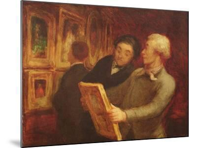 The Amateur Painter-Honore Daumier-Mounted Giclee Print