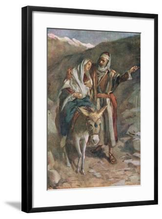 The Flight to Egypt-Harold Copping-Framed Giclee Print