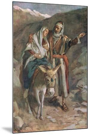 The Flight to Egypt-Harold Copping-Mounted Giclee Print