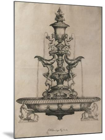 Centrepiece in the Form of a Fountain-Horace Scoppa-Mounted Giclee Print