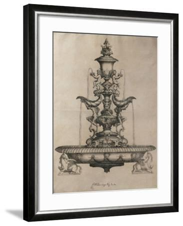 Centrepiece in the Form of a Fountain-Horace Scoppa-Framed Giclee Print