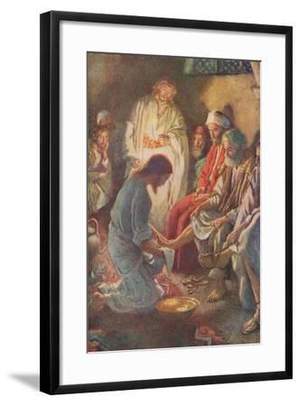 A Lesson in Humility-Harold Copping-Framed Giclee Print