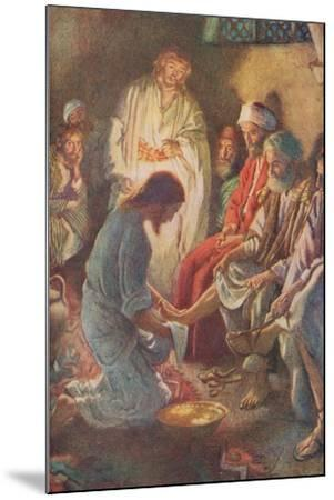 A Lesson in Humility-Harold Copping-Mounted Giclee Print