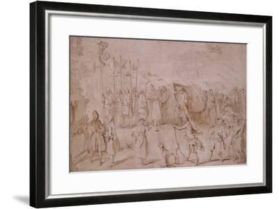 Design of the Funeral of Faction, 1741-Hubert Francois Gravelot-Framed Giclee Print