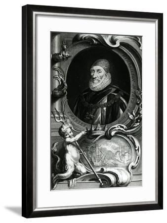 Portrait of Charles Howard-Jacobus Houbraken-Framed Giclee Print