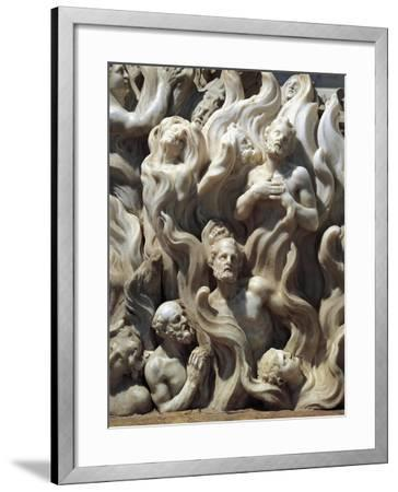 Souls in Purgatory, Detail from Relief Decorated Altar-Giuseppe Bernardi-Framed Giclee Print