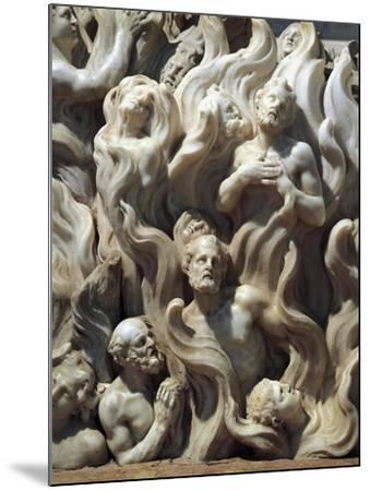 Souls in Purgatory, Detail from Relief Decorated Altar-Giuseppe Bernardi-Mounted Giclee Print