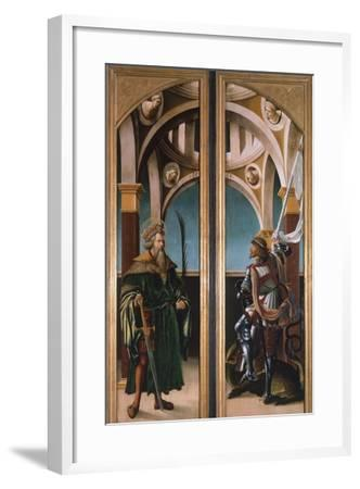 St. Sigismund and St. George, Detail from Doors of a Triptych of the Crucifixion, 1519-Hans Burgkmair-Framed Giclee Print