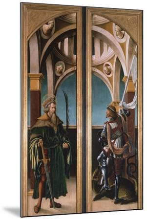 St. Sigismund and St. George, Detail from Doors of a Triptych of the Crucifixion, 1519-Hans Burgkmair-Mounted Giclee Print