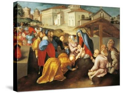 Detail of Central Part of Adoration of Magi or Epifania Benintendi-Jacopo Da Pontormo-Stretched Canvas Print