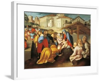 Detail of Central Part of Adoration of Magi or Epifania Benintendi-Jacopo Da Pontormo-Framed Giclee Print