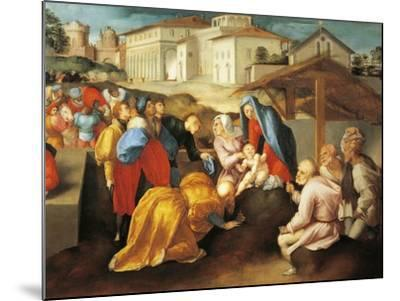 Detail of Central Part of Adoration of Magi or Epifania Benintendi-Jacopo Da Pontormo-Mounted Giclee Print