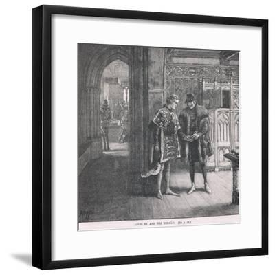 Louis XI and the Herald-Henry Marriott Paget-Framed Giclee Print