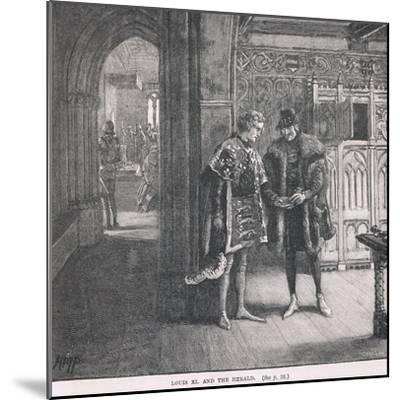 Louis XI and the Herald-Henry Marriott Paget-Mounted Giclee Print