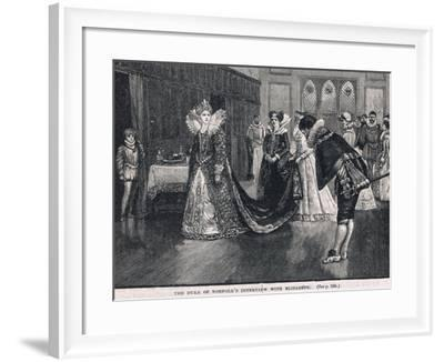 The Duke of Norfolks Interview with Elizabeth 1569-Henry Marriott Paget-Framed Giclee Print