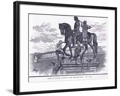 Scene in Dublin: Painting King William Black-Henry Marriott Paget-Framed Giclee Print