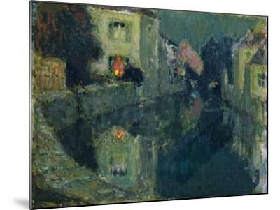 The Canal at Night-Henri Eugene Augustin Le Sidaner-Mounted Giclee Print