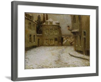 Neige, Montmartre-Henri Eugene Augustin Le Sidaner-Framed Giclee Print
