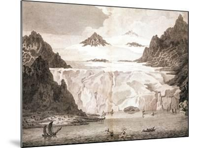 View of an Iceberg from a Voyage Towards the North Pole Undertaken by His Majesty's Command, 1774-John Cleveley the Younger-Mounted Giclee Print