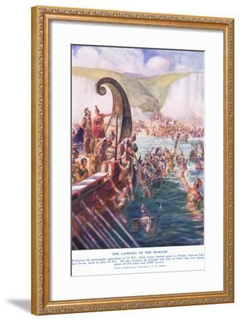 The Romans Arriving in Britain-Joseph Ratcliffe Skelton-Framed Giclee Print