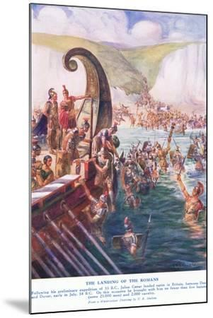 The Romans Arriving in Britain-Joseph Ratcliffe Skelton-Mounted Giclee Print