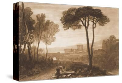"""Scene in the Campagna, from the """"Liber Studiorum,"""" Part VIII, No. 38-J^ M^ W^ Turner-Stretched Canvas Print"""