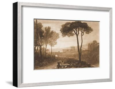 """Scene in the Campagna, from the """"Liber Studiorum,"""" Part VIII, No. 38-J^ M^ W^ Turner-Framed Giclee Print"""