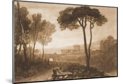 """Scene in the Campagna, from the """"Liber Studiorum,"""" Part VIII, No. 38-J^ M^ W^ Turner-Mounted Giclee Print"""