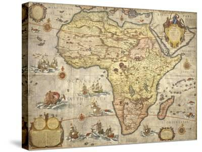 Map of Africa in 1686-Joan Blaeu-Stretched Canvas Print