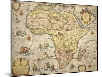 Map of Africa in 1686-Joan Blaeu-Mounted Giclee Print