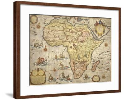 Map of Africa in 1686-Joan Blaeu-Framed Giclee Print