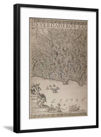 Map of Liguria, 3rd Part-Joseph Chaffrion-Framed Giclee Print