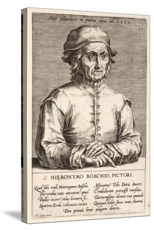 Hieronymous Bosch, Plate 3 from the Series Pictorum Aliquot Celebrium Germanaie Inferioris Effigies-Johan Wierix-Stretched Canvas Print