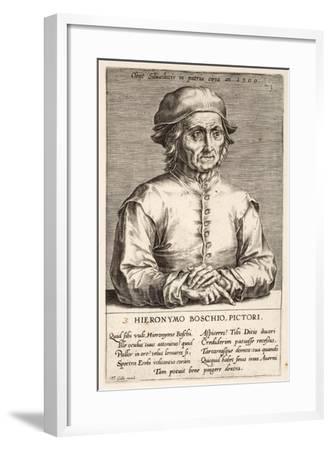 Hieronymous Bosch, Plate 3 from the Series Pictorum Aliquot Celebrium Germanaie Inferioris Effigies-Johan Wierix-Framed Giclee Print