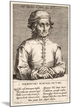 Hieronymous Bosch, Plate 3 from the Series Pictorum Aliquot Celebrium Germanaie Inferioris Effigies-Johan Wierix-Mounted Giclee Print